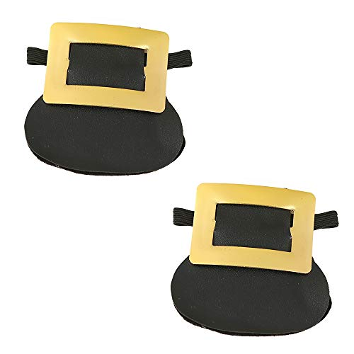 Skeleteen Colonial Shoe Buckle Accessories - Historical Gold Shoe Buckles Costume Accessory