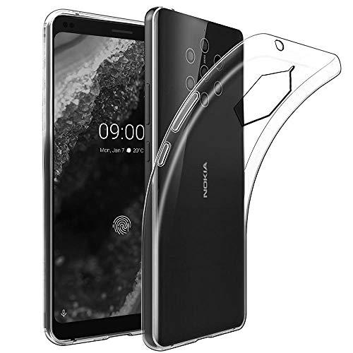 ebestStar - kompatibel mit Nokia Nokia 9 PureView Hülle Handyhülle [Ultra Dünn], Klar TPU Schutzhülle, Silikon Hülle, Transparent [Phone: 155 x 75 x 8mm, 8.99'']