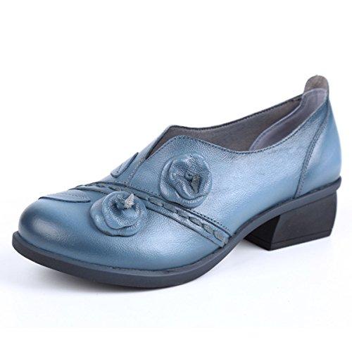 Socofy Mocasines Zapatos De Mujer De Cuero Mujer Zapatos De