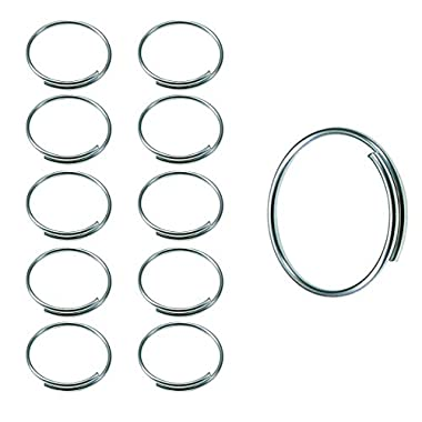 Lucky Line Easy Key Give-A-Way Key Ring, 1″ Diameter, 1000 per Pack (7591000), Silver