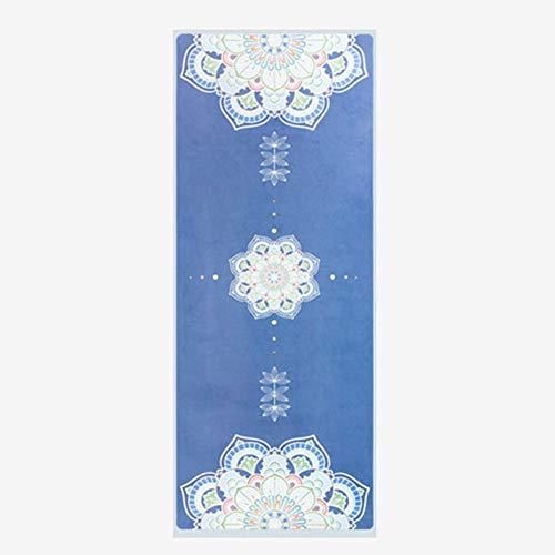 BAWAQAF Esterilla de yoga, gamuza transpirable superficie impresión Yoga Mat,TPE antideslizante secado rápido Yoga Mat,Fitness Gimnasia Yoga Meditación Mat