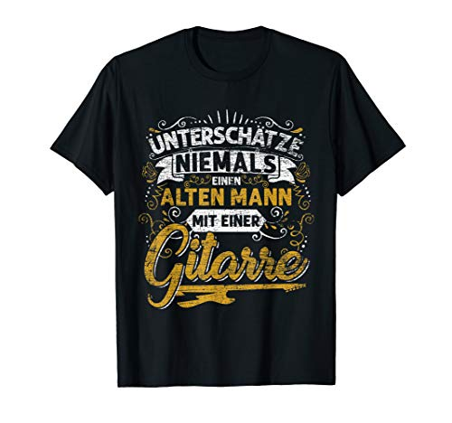 Herren Geschenkidee für Gitarristen und Gitarrenspieler Gitarre T-Shirt