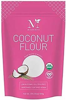 Mementa Organic Coconut Flour, Unrefined, 1 LB (Pack of 6)