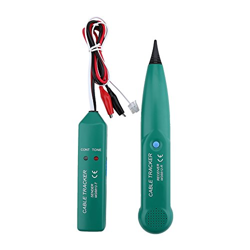 Kabelfinder Kabeltester Leitungssucher, Akozon MS6812 Telefon Wire Network Cable Tester Leitungskabel Tracker für Zusammenstellung Netzwerkkabeln, Telefonleitungsprüfer, Durchgangsprüfung