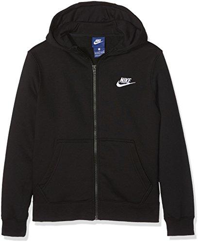 Nike Jungen FZ Club Junior Hoodie, Black/White, S