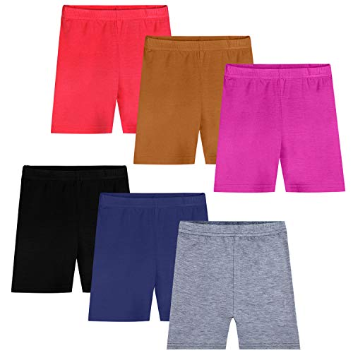 Auranso 6 Pack Girls Dance Shorts Safety Bike Short Multicolor 2-4T