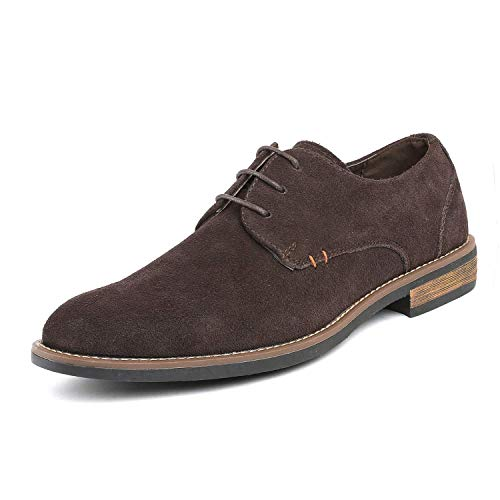 Bruno Marc Men's URBAN-08 Dark Brown Suede Leather Lace Up Oxfords Shoes - 11 M US