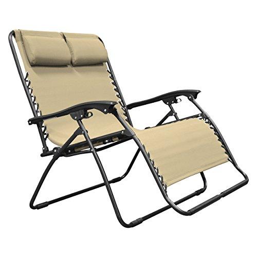 Caravan Sports ZGL01151 Zero Gravity Chair, Beige Loveseat, One Size