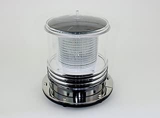 Solar Dock Warning Light - Waterproof Solar Dock Lighting - Flashing 360 Degree Lighting