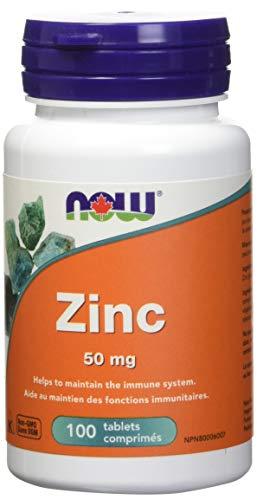 Now Foods Zinc Gluconate, 50mg, 100 Tablets
