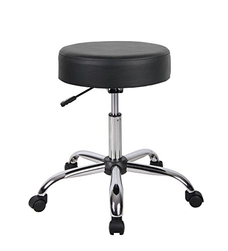 Boss Office Products Be Well Medical Spa Stool in Black