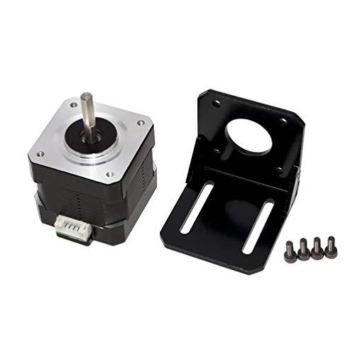 DOITOOL NEMA-Schrittmotor 17 bipolar mit Halterung ok42sth40-1704ac w / 1 M 4-poliges Kabel für elektronische Geräte Montage - 40mm 62 oz.in