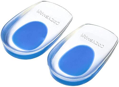 COZYSWAN Plantillas Gel Amortiguación Ligera/Cómoda/Transpirable - Almohadilla Talón para Soft Silicona Gel talón