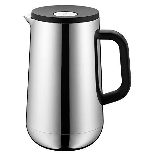 WMF Impulse Thermoskanne Edelstahl 1l, Isolierkanne für Tee oder Kaffee, Druckverschluss, hält Getränke 24h kalt & warm
