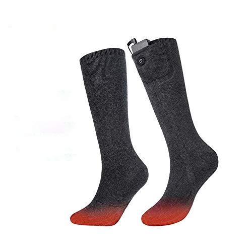 Riscaldata elettrico Socks Calze elettrici riscaldati termici Riscaldamento Calze Scaldapiedi 7.4V invernali unisex elettrici riscaldati Calze per Bicicletta Moto Escursionismo Sci alpinismo