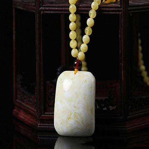 Natural White Bijenwas Hanger Amber Ketting Lange Old Bijenwas Trui Chain Mannen En Vrouwen Sieraden Geschikt Voor Geschenken