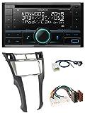 caraudio24 Kenwood DPX-7200DAB MP3 2DIN Bluetooth USB DAB CD Autoradio für Toyota Yaris (2007-2011)