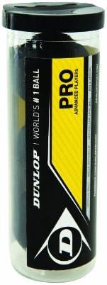 Dunlop Sports Pro XX Squash Ball, 3-Ball Tube