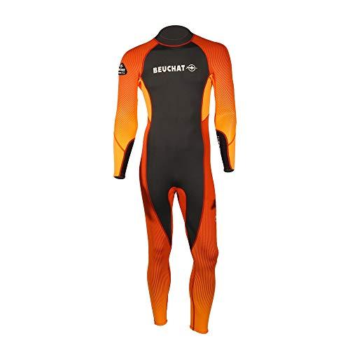 BEUCHAT - Tuta integrale da uomo, 3 mm, in neoprene, colore: Arancione
