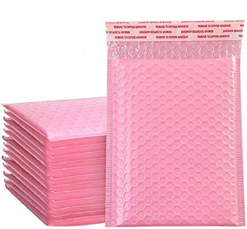 50pcs Bubble Mailers Gepolsterte Umschläge Gepolsterte Briefumschläge Bunt Bubble Tasche Bubble Versandtaschen Luftpolstertaschen Padded Envelopes Bag Shipping, Rosa (13x15 cm / 5x6 inch)