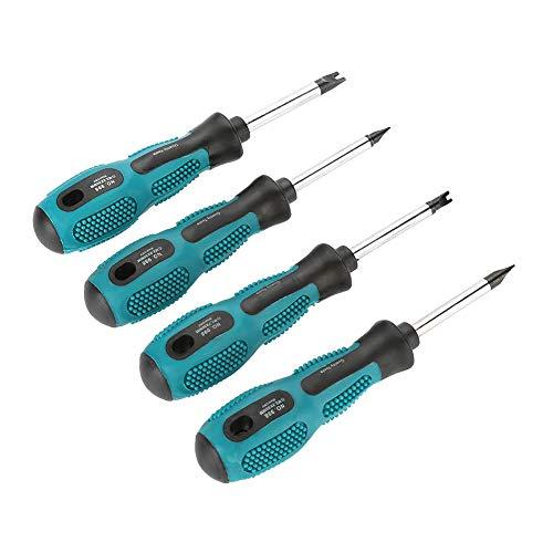Nosii 4 stks Schroevendraaier Set U Vork Type Magnetische Schroef Driver CRV Multifunctionele Hand Tool Schroevendraaier Multitool