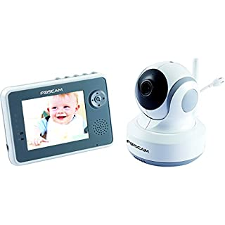 Foscam FBM3501 Vigilabebés Digital - 2.4 Ghz, Pan / Tilt de Control, Visión Nocturna y De Dos Vías De Audio, De La Cámara, 9 centímetros LCD (blanco / gris) enchufe de la UE (B00DNBA82S) | Amazon price tracker / tracking, Amazon price history charts, Amazon price watches, Amazon price drop alerts