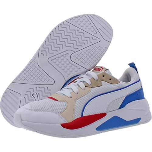 PUMA Zapatillas de rayos X para hombre, (blanco, azul, rojo (puma white-puma white-tapioca-palace blue-high risk red)), 46 EU