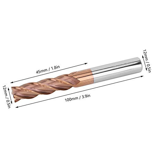 End Mill, Sturdy 4 Fulte End Mill, Stable Universal for Engraving 3D Printers Milling General Purpose