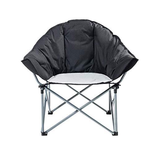 XYZMDJ Piattino Camping Chair Cup Holder Telaio di Ferro Pieghevole Imbottito Rotondo Sedia Pieghevole