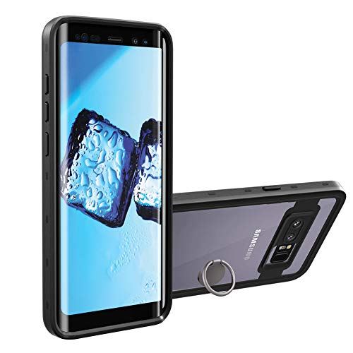 meritcase Galaxy Note 8 Case - Built-in Screen Protector Waterproof Full Body Heavy Duty Clear Cover - Removable Kickstand Included