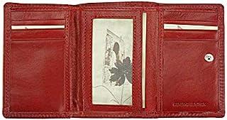 Portafoglio donna Rosso in pelle 12x8 cm - Rina V - Made in Italy