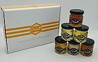 🐝 Assortiment des 6 miels d'exception de la gamme Carnica en 6 X 50 grammes pour une dégustation riche et variée. 🐝 Idéal pour offrir en Cadeau ou se faire Plaisir, Le coffret conviendra à toutes personnes aimant le miel de Terroir et de Qualité. 🐝 L...
