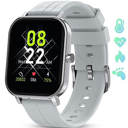 """GOKOO Smartwatch 1,65\"""" Zoll Fitnessuhr Sportuhren Herren Full Touch Display Fitness Tracker Uhr Pulsmesser Sport Uhr Schrittzähler Kalorienzähler Schlafmonitor Damen Fitnessuhr Herren für IOS Android"""