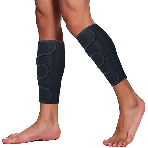 HOPEFORTH Calf Brace Adjustable 2 Pack Shin Splint Support Sleeve Leg Compression Wrap for Torn Calf Muscle, Strain, Sprain, Pain Relief, Tennis Leg,Injury,Best Lower Leg Brace for Men and Women
