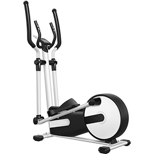 Elliptical Trainers, verstelbare handgreep, verstelbare Step breedte, dunne taille, Slim Arms, Raise Hips, Been Shaping, Hand Holding Heart Rate Test (Color : Black and White)