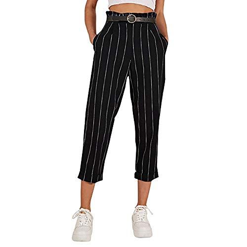 Elodiey Señoras Carrera Rayas Flacas Pantalones Casuales Rectas Pantalones Negocios Elegantes Mujeres con Bolsillos 2020 Ropa De Niñas