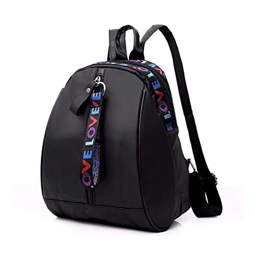 REBKW Mochila para mujer de piel sintética de viaje, bolso de hombro, multifuncional, pequeña, mochila escolar para mujeres, color negro (1,China)