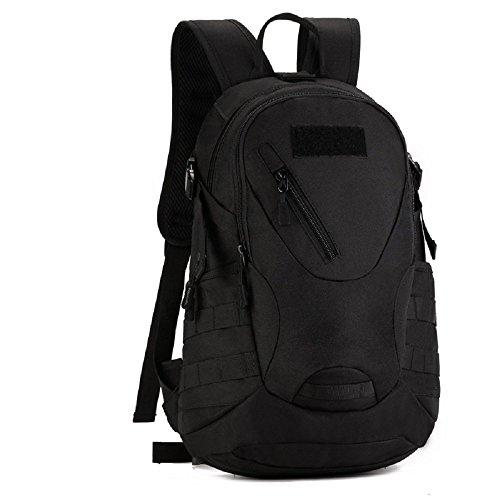 Zaino Unisex 20L Tattico Militare Studente Zaino Outdoor Sport Backpack per Viaggio Escursionismo Campeggio Alpinismo, Marrone Scuro