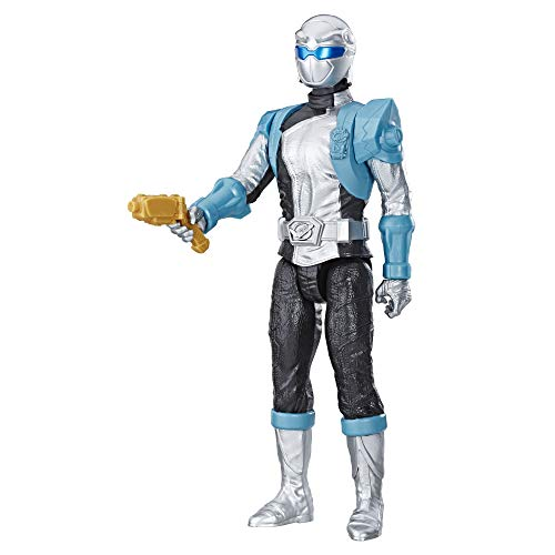 Hasbro Power Rangers Beast Morphers Silver Ranger 12-inch Action Figure Toy with Accessory, Inspired by The Power Rangers TV Show