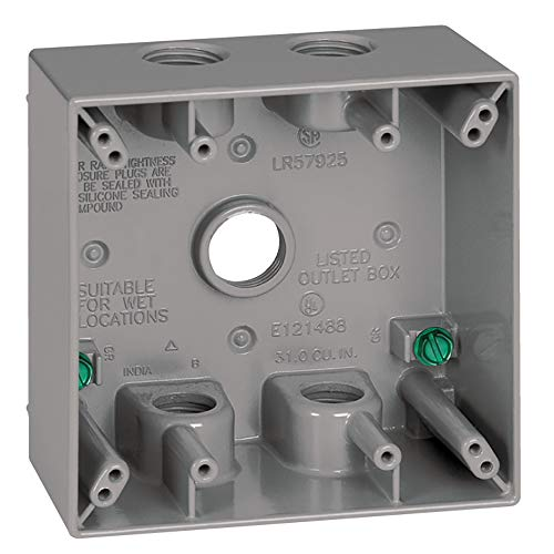 Sigma Electric, Gray 14351-5 1/2 Zoll 5 Loch 2-Gang Box