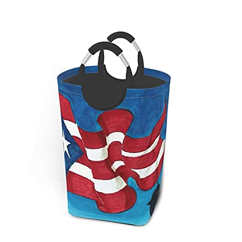IUBBKI Bandera de Puerto Rico Paquete de ropa sucia Cesto de lavandería Caja de almacenamiento Resistente al desgaste e impermeable para dormitorio familiar Cuarto de servicio Armario de ofici