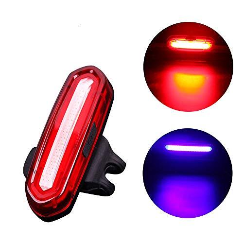 Neueste LED Fahrradbeleuchtung Fahrradlicht, USB wiederaufladbare Fahrrad Rücklicht Fahrrad, 4/6 Modi Fahrradleuchte Fahrradbeleuchtung Aufladbare Fahrradlichter Für Camping Angeln Warnlicht (E)