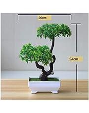 RCDD グリーン人工植物盆栽小さな木鉢植えシミュレーションプラスチックの花鉢植えの装飾品ホームホテルの庭の装飾