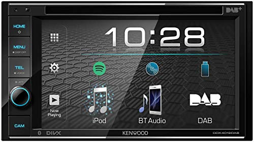 Kenwood DDX4019DAB DAB + Autoradio Multimédia avec écran Tactile de 15,7 cm (2 DIN, DVD, Mains...