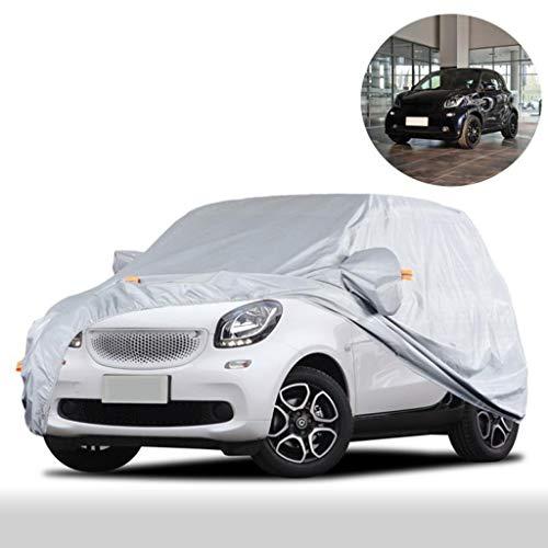Car-Cover/Kompatibel mit SMART/wasserdichter Regendicht Staubdicht Warmhalte Kratzer beständig Allwetter vollen Auto-Abdeckung Mobil Carport (Color : Silver Grey, Size : Smart fortwo)