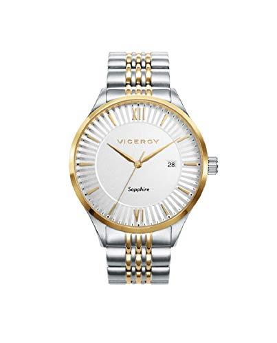 Viceroy herenhorloge, tweekleurig, zilverkleurig, goudkleurig, 471231-03