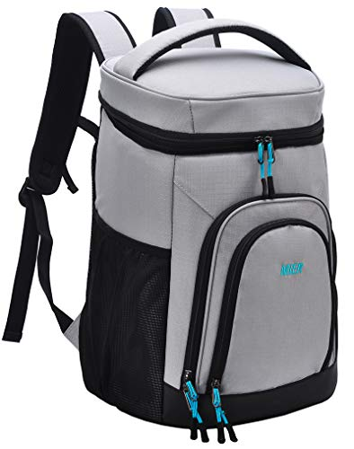 MIER Insulated Lunch Backpack Leakproof Soft Cooler for Men Women to Beach Travel Picnic Hiking Work30 Can Gray