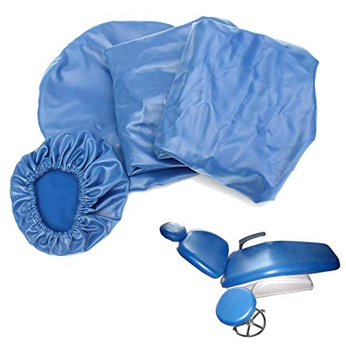 BIUYYY Elastische wasserdichte Schutzhülle Dental Stuhl Sitzbezug Kopfstütze Rückenlehne Schutz Zahnarzt Ausrüstung, 4 Teile/Satz
