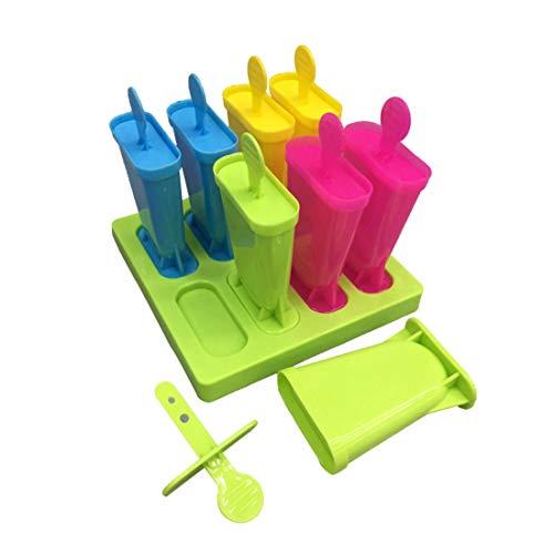 PECHTY Eisformen, 6 Eisförmchen Popsicle Formen Set, EIS am Stiel Bereiter, Stieleisformer LFGB Geprüft und BPA Frei Perfekt für Kinder und Erwachsene