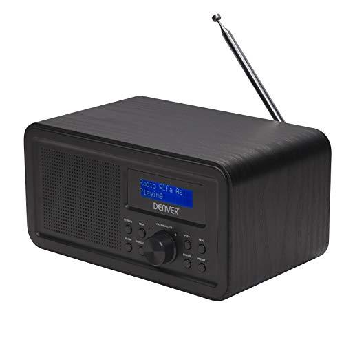 Denver Radio DAB-30 Dab+ con sintonizador FM y función Despertador, Color Negro